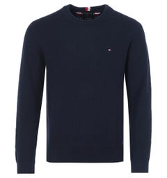 Tommy Hilfiger Exaggerated Textured Organic Cotton Sweater - Desert Sky