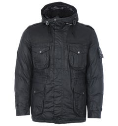 Barbour Gold Standard Canna Waxed Cotton Jacket - Black