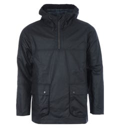 Barbour White Label Waxed Cotton Smock Jacket - Navy