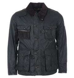 Barbour Gold Standard Supa-Fission Waxed Cotton Jacket - Sage