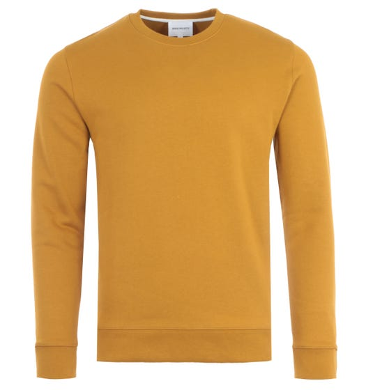 Norse Projects Vagn Classic Crew Sweatshirt - Oxide Yellow