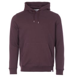 Norse Projects Vagn Organic Cotton Classic Hooded Sweatshirt - Eggplant