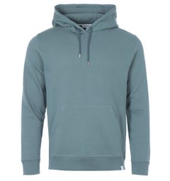 Norse Projects Vagn Organic Cotton Classic Hooded Sweatshirt - Mineral Blue