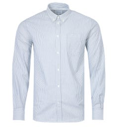 Norse Projects Anton Stripe Oxford Shirt - White & Green
