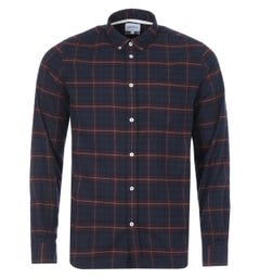 Norse Projects Anton Check Brushed Flannel Shirt - Cordovan Brown