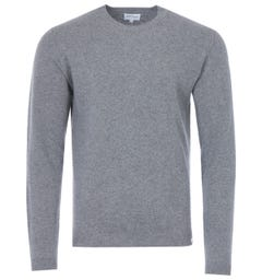Norse Projects Sigfred Lambswool Crew Neck Sweater - Grey Melange