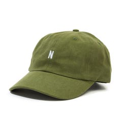 Norse Projects Twill Sports Cap - Linden Green