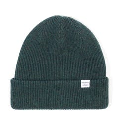 Norse Projects Merino Wool Beanie Hat - Forest Green