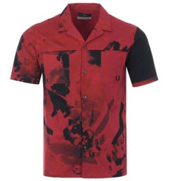 Fred Perry x Casely-Hayford Digital Print Revere Collar Shirt - Upsdell Red