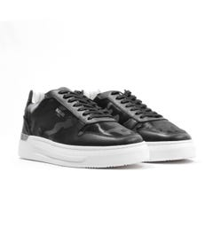 Mallet Hoxton Leather Trainers - Black & Camo