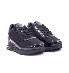 Mallet Popham Patent Leather Trainers - Midnight