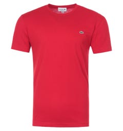 Lacoste Basic Crew Neck T-Shirt - Bright Red