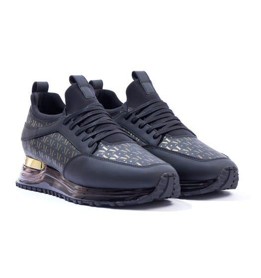 Mallet Archway 2.0 Trainers - Gas Midnight Mono Gold