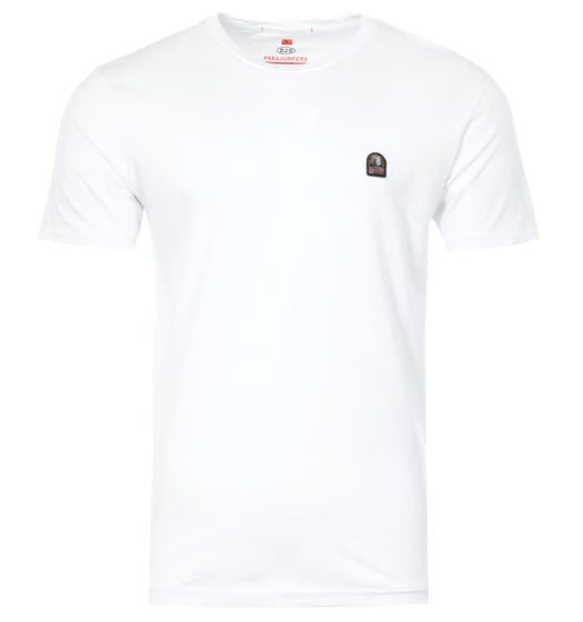 Parajumpers Patch Logo Crew Neck T-Shirt - White