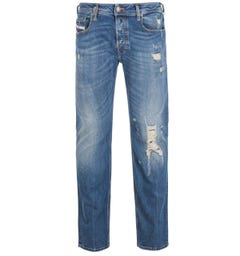 Diesel Zatiny Pantaloni Bootcut Regular Fit Blue Rinse Denim Jeans