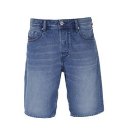 Diesel Keeshort Calzoncini Blue Wash Denim Shorts