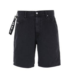Diesel D-Willoh Calzoncini Regular Fit Black Denim Shorts