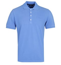 Diesel T-Night Broken Ocean Blue Polo Shirt