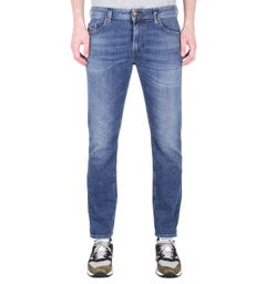 Diesel Thommer Pantaloni Slim Fit Indigo Wash Denim Jeans