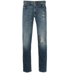 Diesel Thommer Pantaloni Slim Fit Medium Blue Wash Denim Jeans