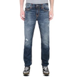 True Religion Geno Slim Super T Distressed Blue Jeans