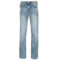 True Religion Ricky Relaxed Straight Fit Flap Launch Blue Denim Jeans