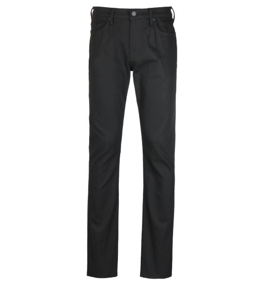 True Religion Ricky Relaxed Straight Fit No Flap Rinse Black Denim Jeans