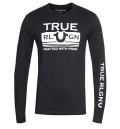 True Religion Long Sleeve Still Mill Black T-Shirt