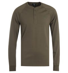 True Religion Embroidery Kalamata Long Sleeve Henley T-Shirt