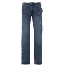 True Religion Ricky Flap Relaxed Straight Fit Jeans - Dark Aged