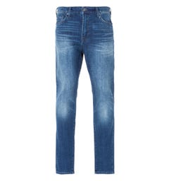 True Religion Mick Slouchy Skinny Jeans - Ranch Hand Blue