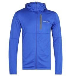 Columbia Tech Trial Lightweight Zip Through Electric Blue Hoodie