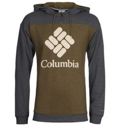 Columbia Lodge French Terry Olive and Charcoal Hooded Sweatshirt