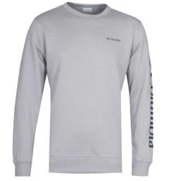 Columbia Sleeve Logo Slate Grey Crew Neck Sweatshirt