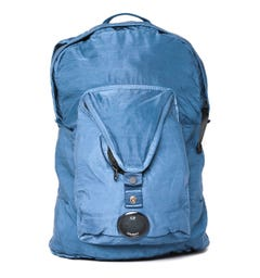 CP Company Pocket Detail Blue Backpack