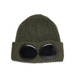 CP Company Large Goggle Olive Knit Beanie