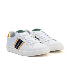 Fred Perry B721 Leather & Webbing Trainers - White