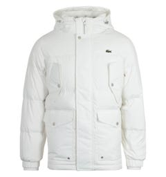 Lacoste Water Repellent White Down Jacket