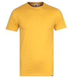 Pretty Green Mitchell Crew Neck Yellow Jersey T-Shirt