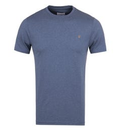 Farah Denny Dark Denim Marl Slim Fit T-Shirt