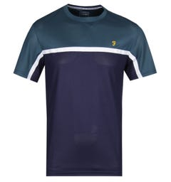 Farah Coucher Yale Navy & Green T-Shirt