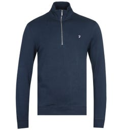 Farah Aintree Quarter Zip Sweatshirt - Dark Blue