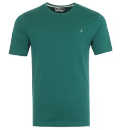 Farah Eddie Organic Cotton T-Shirt - Getty Green