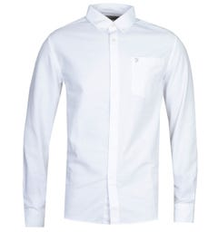 Farah Drayton Long Sleeve White Shirt