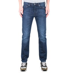 Edwin ED-80 Kingston Blue Denim Slim Tapered Mid Coal Wash Jeans