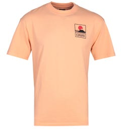 Edwin Sunset On Fuji Cantaloupe Beige T-Shirt