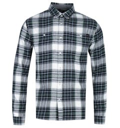 Edwin Tripple 10 Sycamore Green Checked Shirt