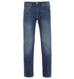 Edwin ED-85 CS Red Listed Slim Tapered Blue Mission Wash Denim Jeans