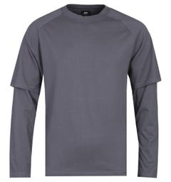 Edwin Long Sleeve Ebony Baseball T-Shirt