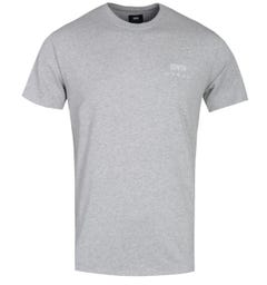 Edwin Grey Marl Logo Chest T-Shirt